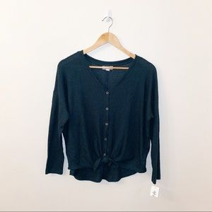 Style & Co Long-sleeve Tie Thermal Top